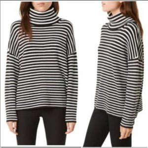 NWOT French Connection Stripe Micro Ribbed Sweater